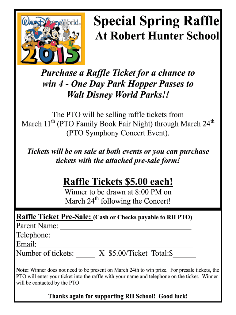 Get And Sign Special Spring Raffle Flemington Raritan Regional School Frsd K12 Nj 2015-2021 Form