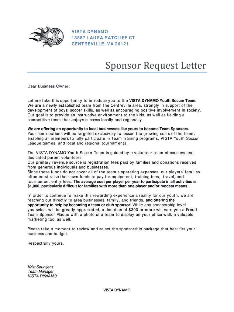 Corporate Sponsorship Request Letter from www.signnow.com