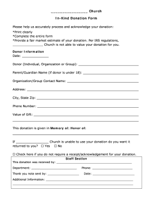 photo relating to Printable Donation Form identify Church donation sorts - Fill Out and Signal Printable PDF