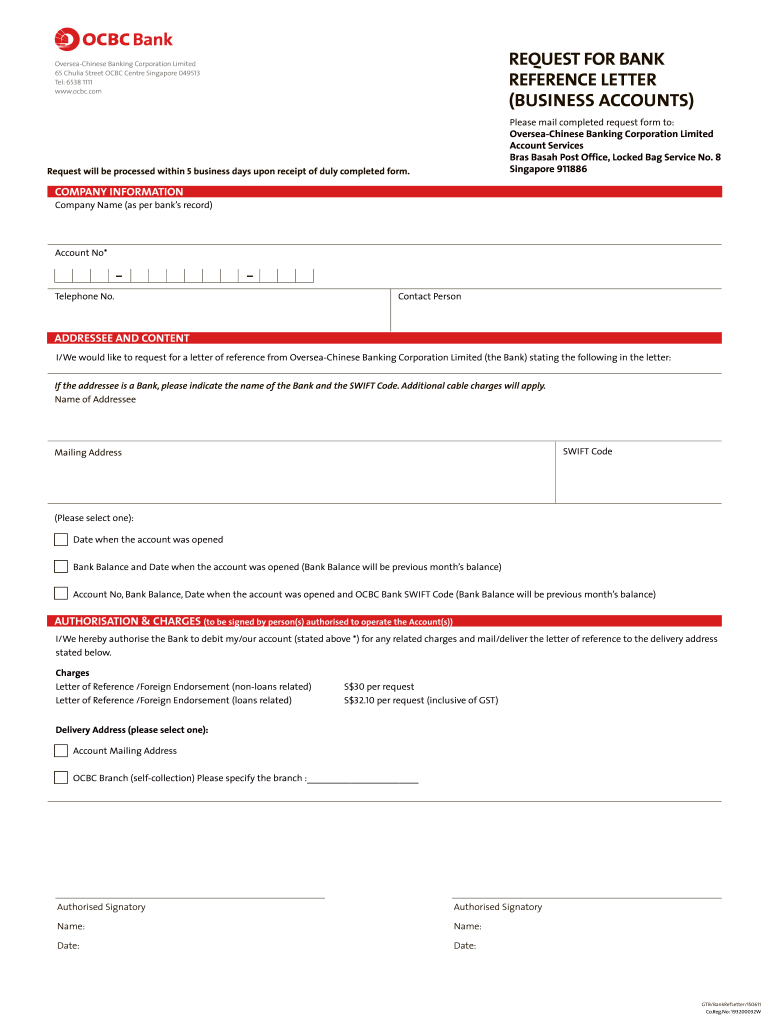 Get And Sign Ocbc Reference Letter Of Employment  Form 2011-2021
