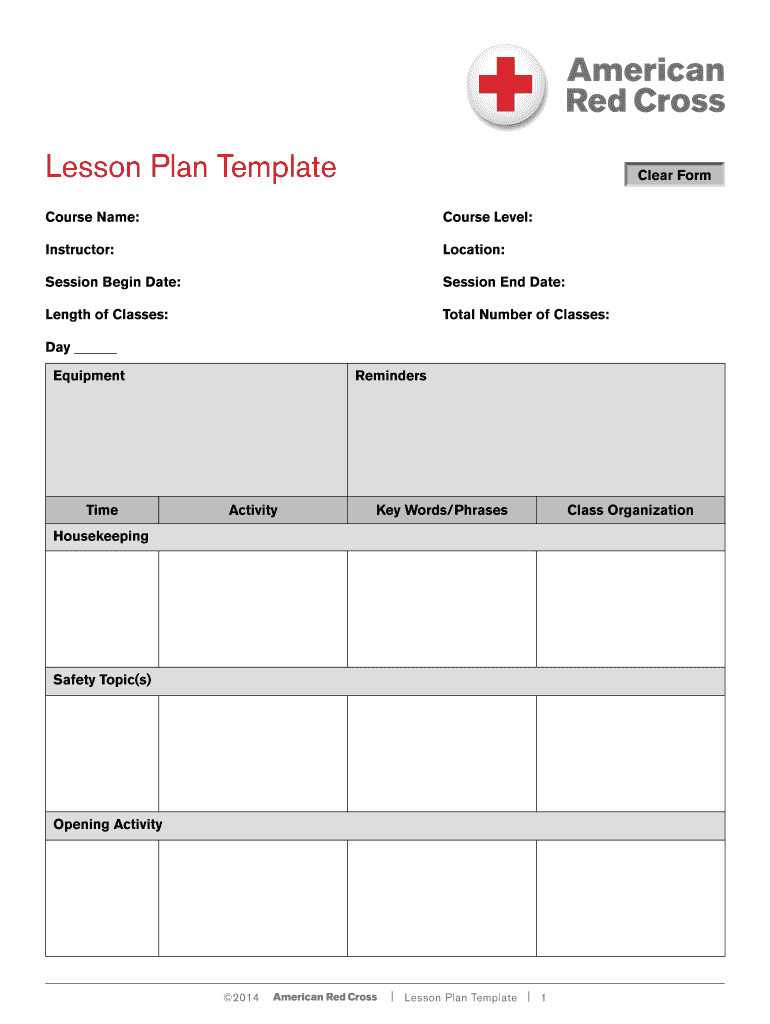 Get And Sign Lesson Plan Template  Instructors Corner Form