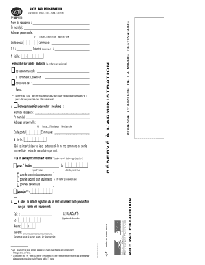 Get And Sign Procuration Cerfa Form