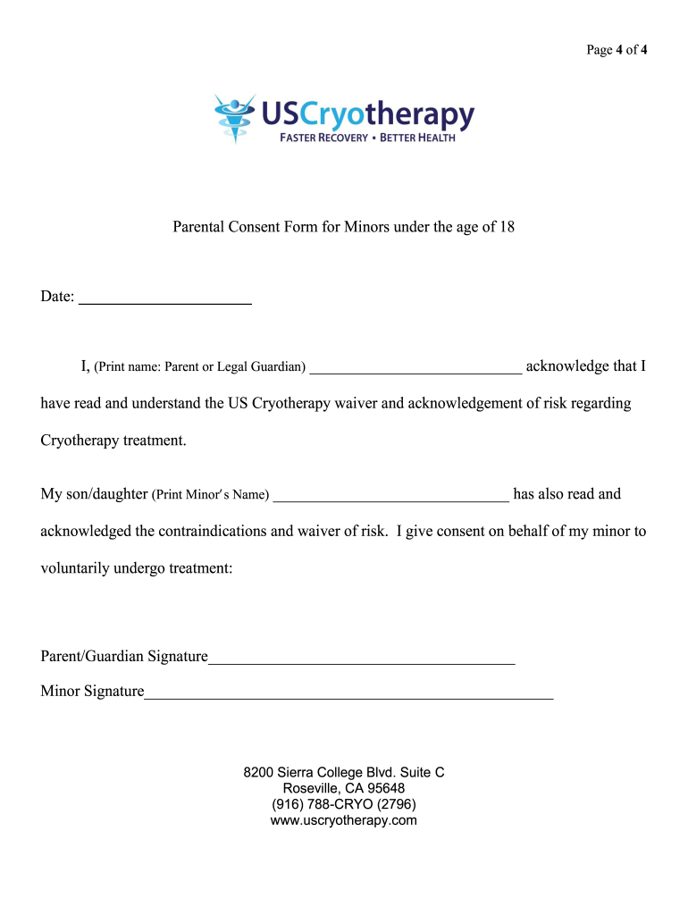 Get And Sign Parental Consent Form For Minor