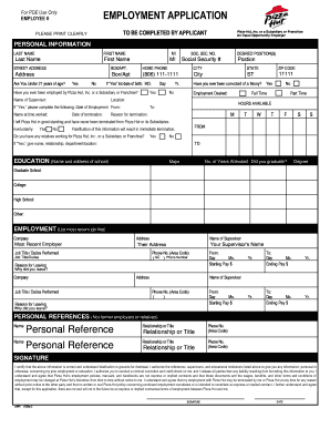 photo regarding Pizza Hut Printable Application named Pizza hut software program pdf variety - Fill Out and Indication Printable