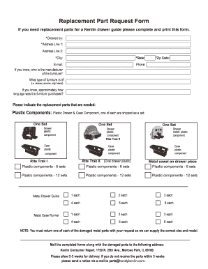 Get And Sign Replacemeny Hardware Stanley Furniture Form Replacement