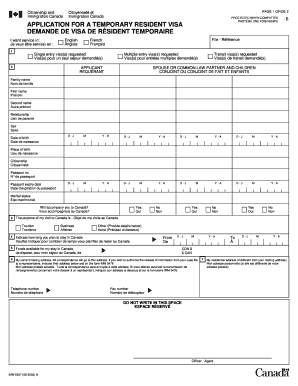 Canada visa application form 2002 - Fill Out and Sign