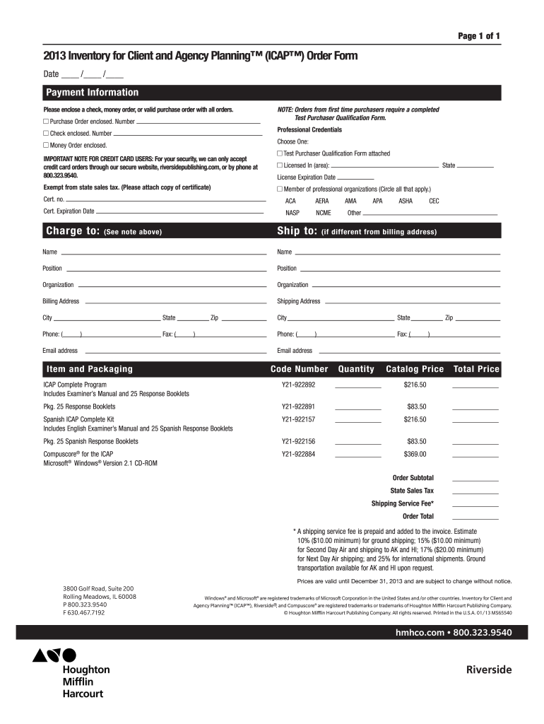 Get And Sign Houghton Mifflin Icap Form