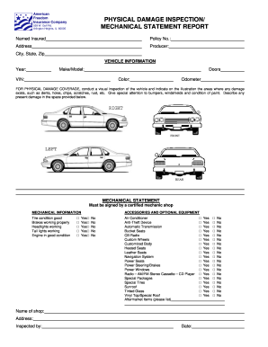 Vehicle inspection checklist pdf form - Fill Out and Sign