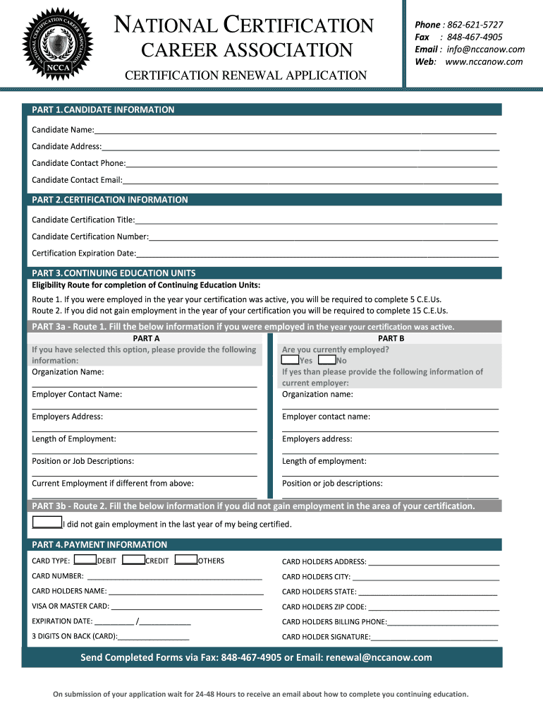 ncca pdf form signnow sign certification