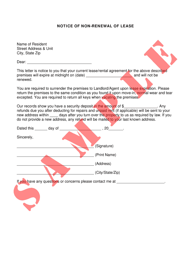 Sample Letter To Tenant Not Renewing Lease from www.signnow.com