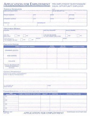 brand new becd6 eb179 Get And Sign Adams Applications For Employment Pdf Form