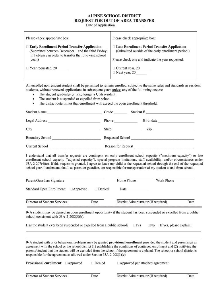 Get And Sign Of Area Transfer 2008-2021 Form