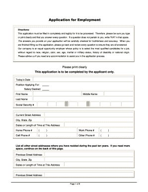 blank fillable job application form fill out and sign. Black Bedroom Furniture Sets. Home Design Ideas