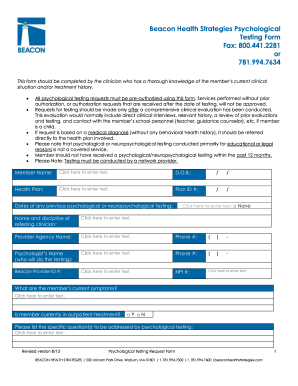 Beacon psychological testing form - Fill Out and Sign Printable PDF