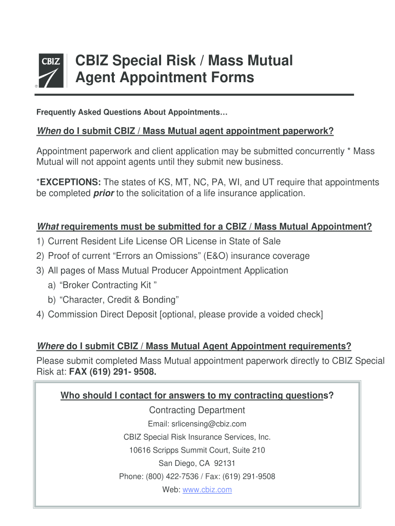 Get And Sign Mass Mutual Appointment Form