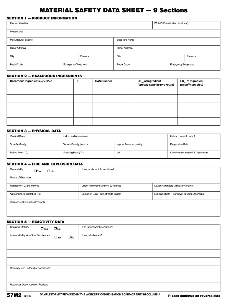 Get And Sign Blank Sds Form