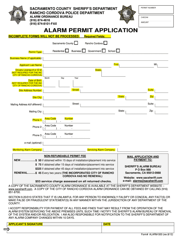 Get And Sign Alarmpermit Form