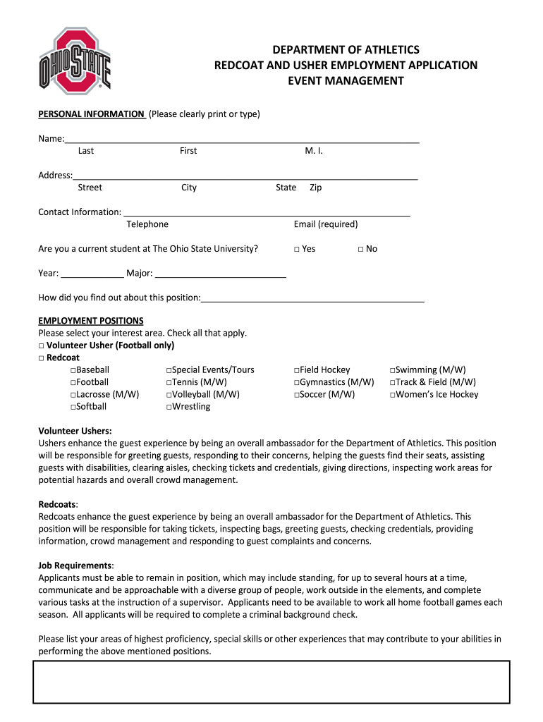 Get And Sign Redcoat Application Form