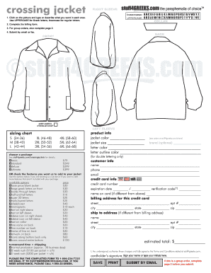 photo regarding Printable Jacket known as Invest in style jacket - Fill Out and Signal Printable PDF Template