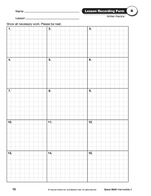 Saxon math recording forms - Fill Out and Sign Printable ...
