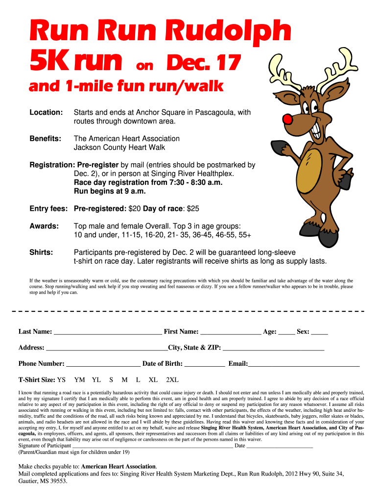 Get And Sign Srhscomrunrunrudolph Form