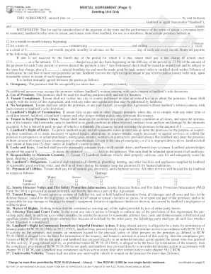 Get And Sign RENTAL AGREEMENT (Page 1) Form