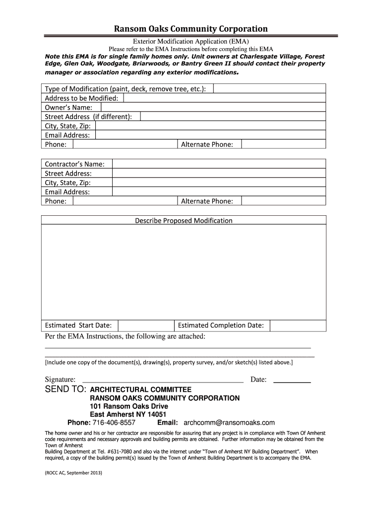 Get And Sign Ransom Oaks Community Corporation 2013-2021 Form