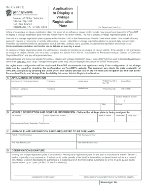 photo relating to Printable Mv-1 Form, Pennsylvania called Pa mv 11v type - Fill Out and Indicator Printable PDF Template