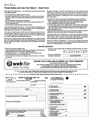 How Much Is Sales Tax In Texas >> How To Fill The Form Texas Sales And Use Tax Return Form 01 117rev4