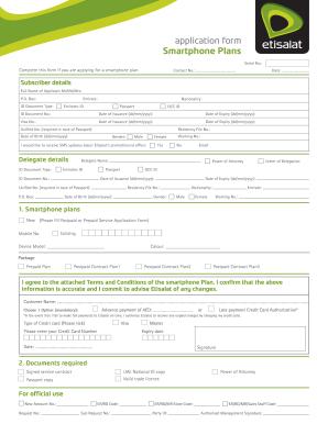 etisalat postpaid data plans