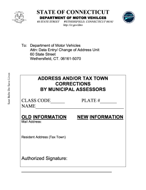 Dmv Change Of Address Form | Ct Dmv Address Change Form Signnow Fill Out And Sign Printable