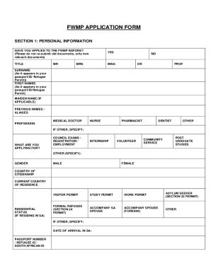 fwmp application letter