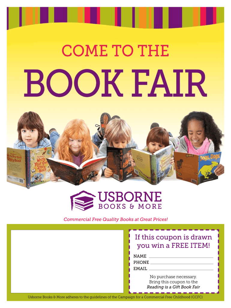 Get And Sign Usborne Book Fair Flyer Form