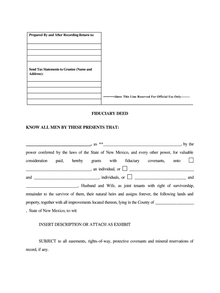 Get And Sign Fiduciary Deed Form
