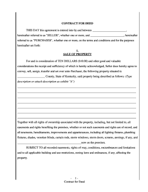 Get And Sign Land Contract Forms For Kentucky