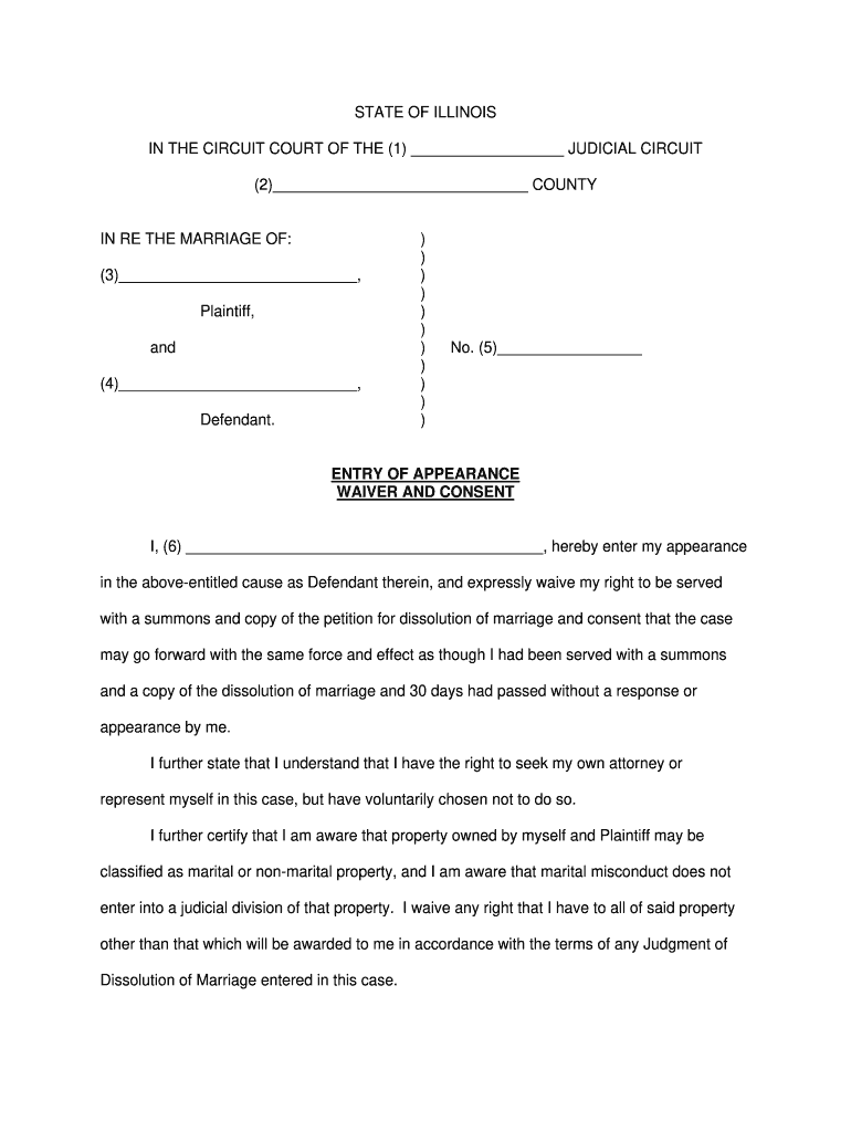 Entry Of Appearance Fill Out And Sign Printable Pdf Template Signnow