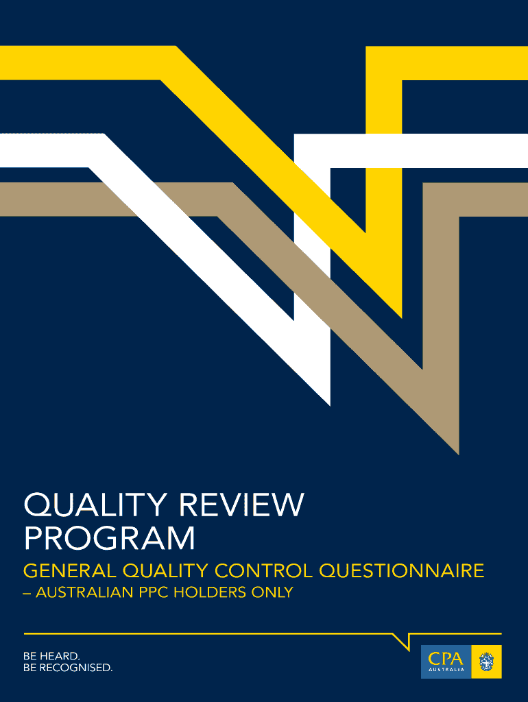 Get And Sign Quality Control Questionnaire 2013-2021 Form