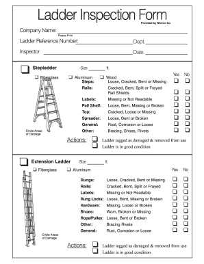 Ladder Inspection Checklist Form Fill Out And Sign Printable Pdf