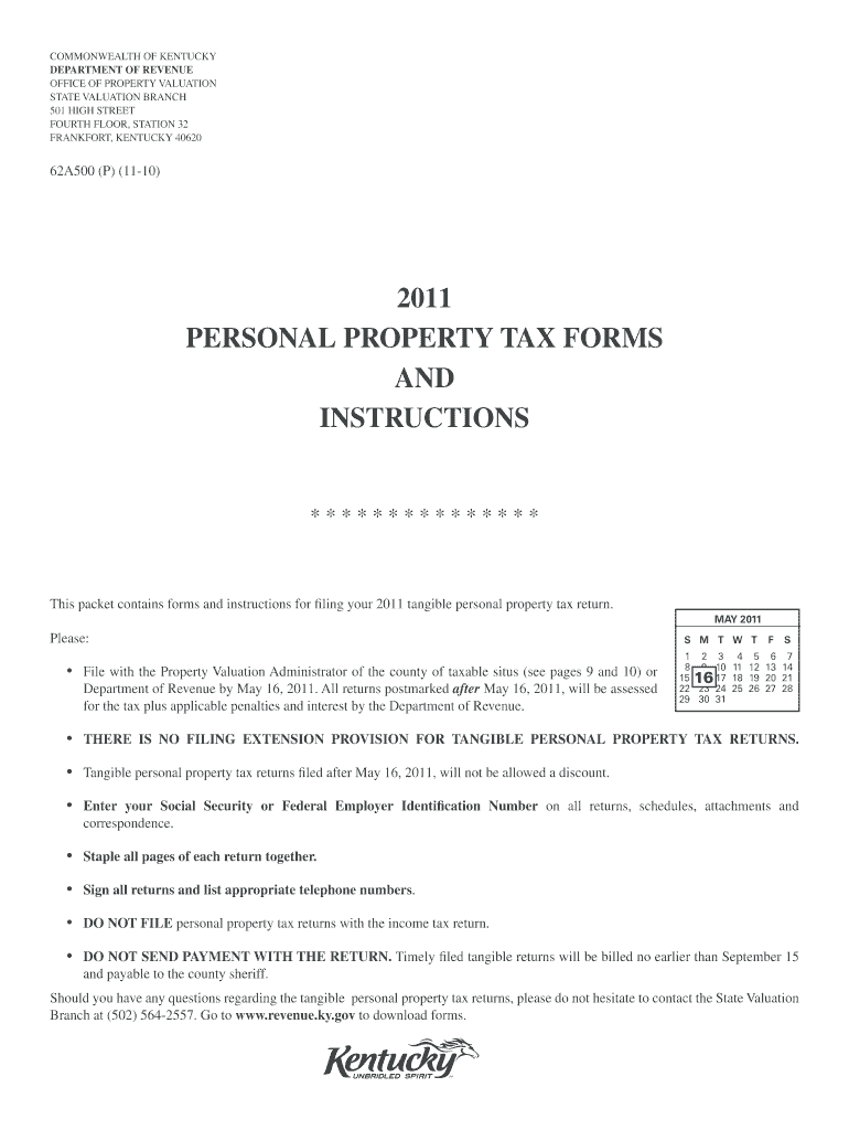 Get And Sign Personal Property Tax Forms And Instructions Kentucky 2020-2021