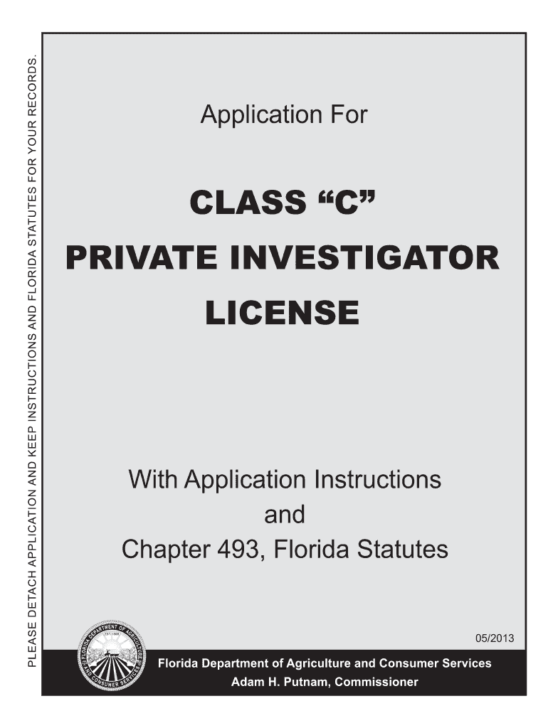 Get And Sign Investigator License In Florida 2013-2021 Form