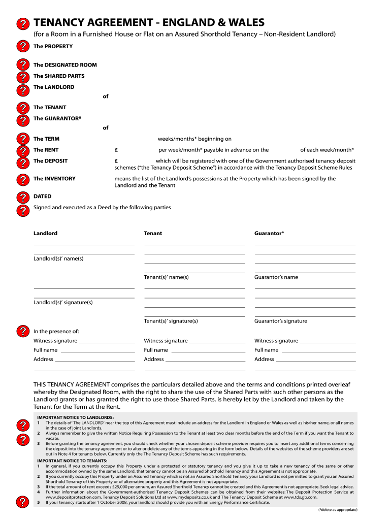 Tenancy Agreement England And Wales Fill Out And Sign Printable Pdf Template Signnow