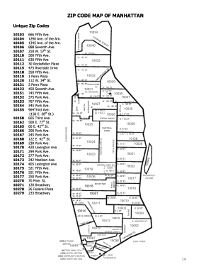 Manhattan zip code map form - Fill Out and Sign Printable PDF ... on