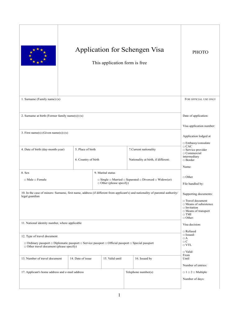 Spain Visa Application Form Fill Out And Sign Printable Pdf Template Signnow