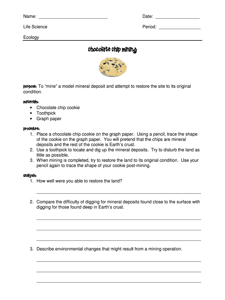 Get And Sign Chocolate Chip Mining Form