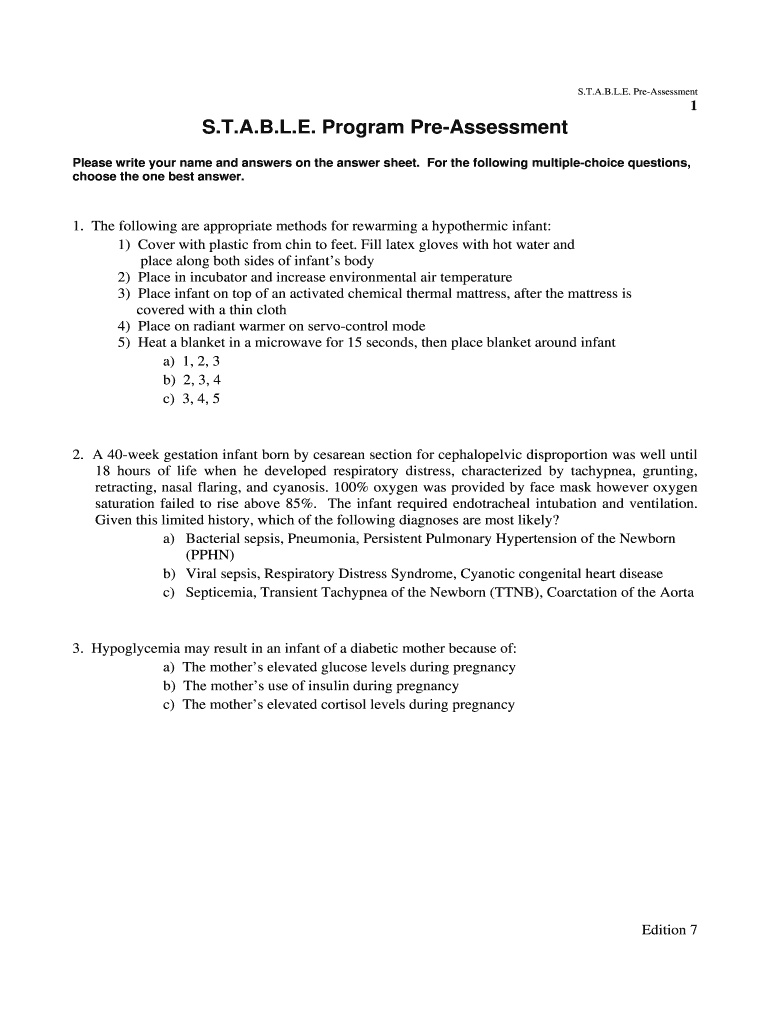 Stable Program Answers - Fill Out and Sign Printable PDF ...