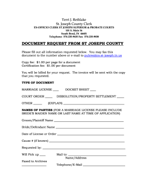st joseph county indiana marriage license