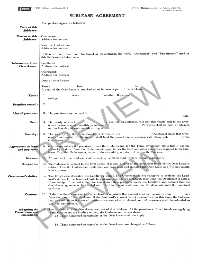 Sublease Agreement Nyc Fill Out And Sign Printable Pdf Template Signnow