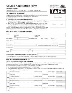 I e a college of tafe application forms png - Fill Out and