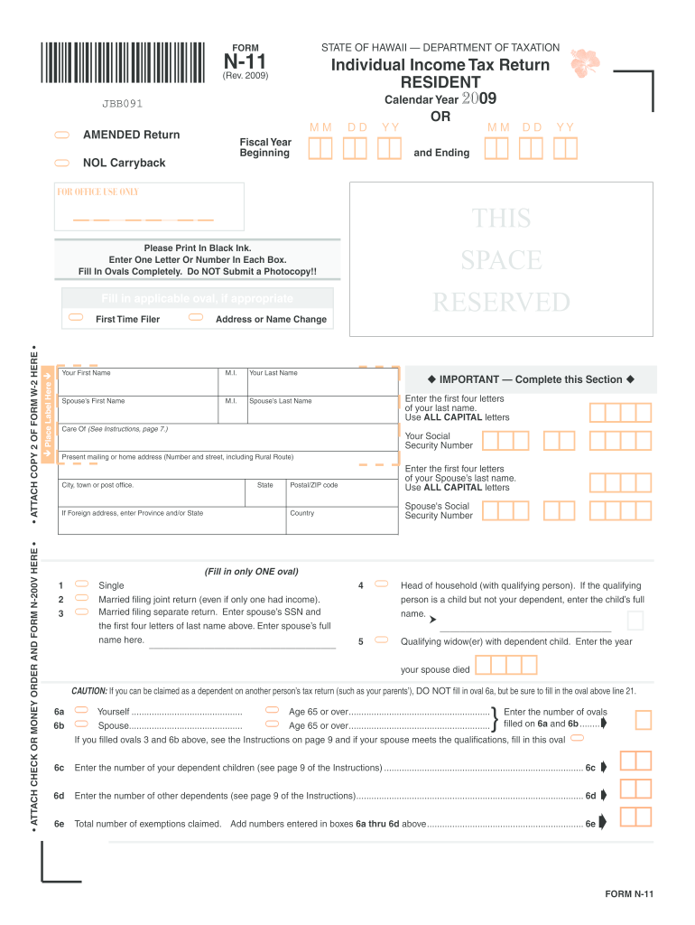 Get And Sign N11 Fillable Form 2009-2021