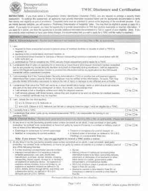 Online Twic Application Fill Out And Sign Printable Pdf Template Signnow
